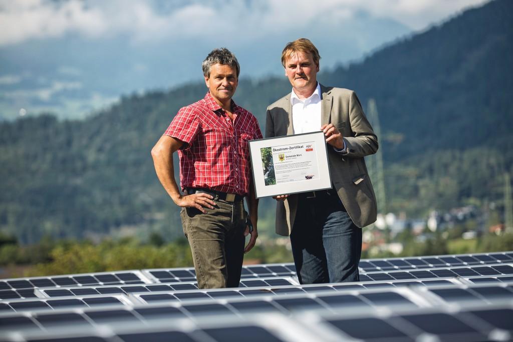 Photovoltaikanlage Gemeinde Bürs; Foto: Markus Gmeiner