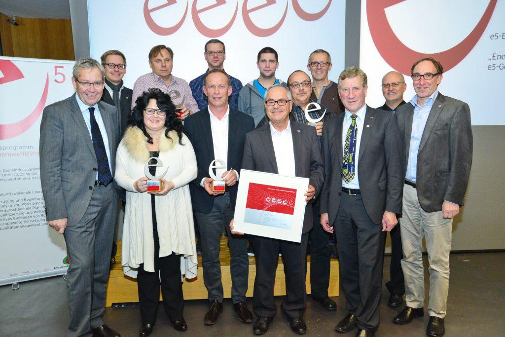 Das e5-Team Altach bei der Zertifizierung 2014, Foto: Werner Micheli