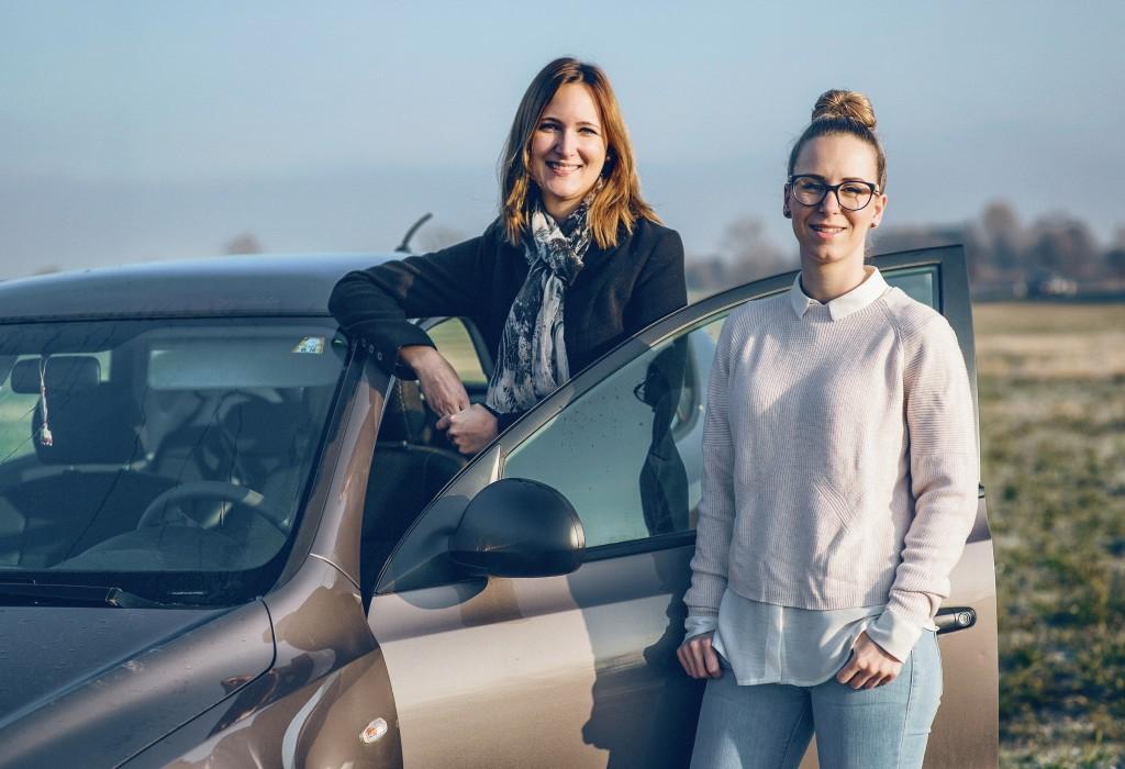 Die beiden Lustenauerinnen Anna Sutter und Eva-Maria Schlattinger haben sich im Rahmen von Probier amol zu einer Fahrgemeinschaft zusammen geschlossen.