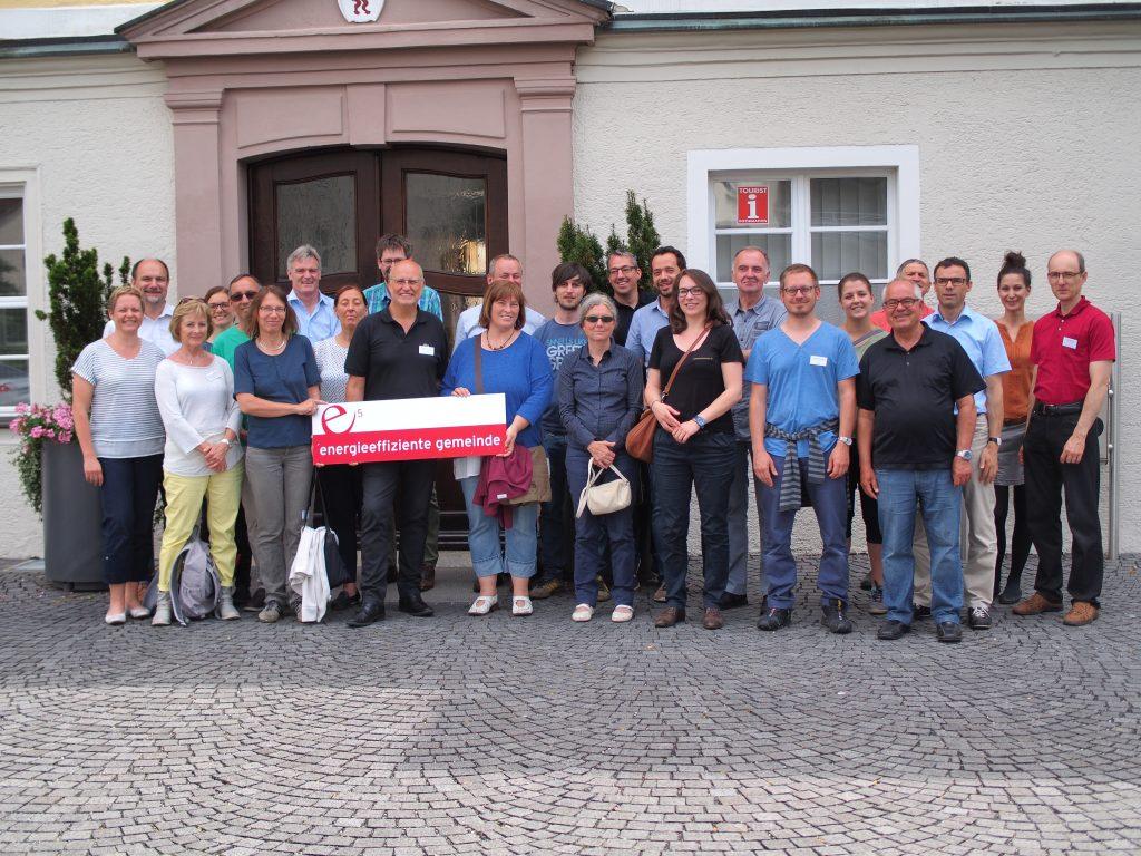 Bad Schussenried mit Bürgermeister Deinet und Walter Göppel (ea Ravensburg - e5-Exkursion 2016