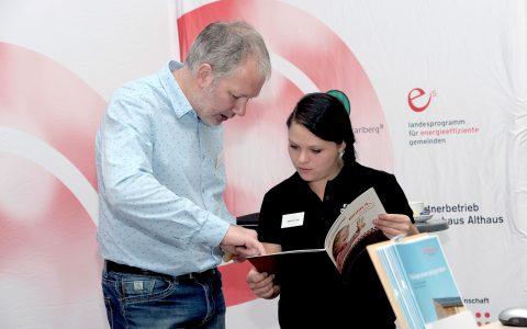 Das Energieinstitut Vorarlberg beim Solar- und Wärmepumpentag 2016.