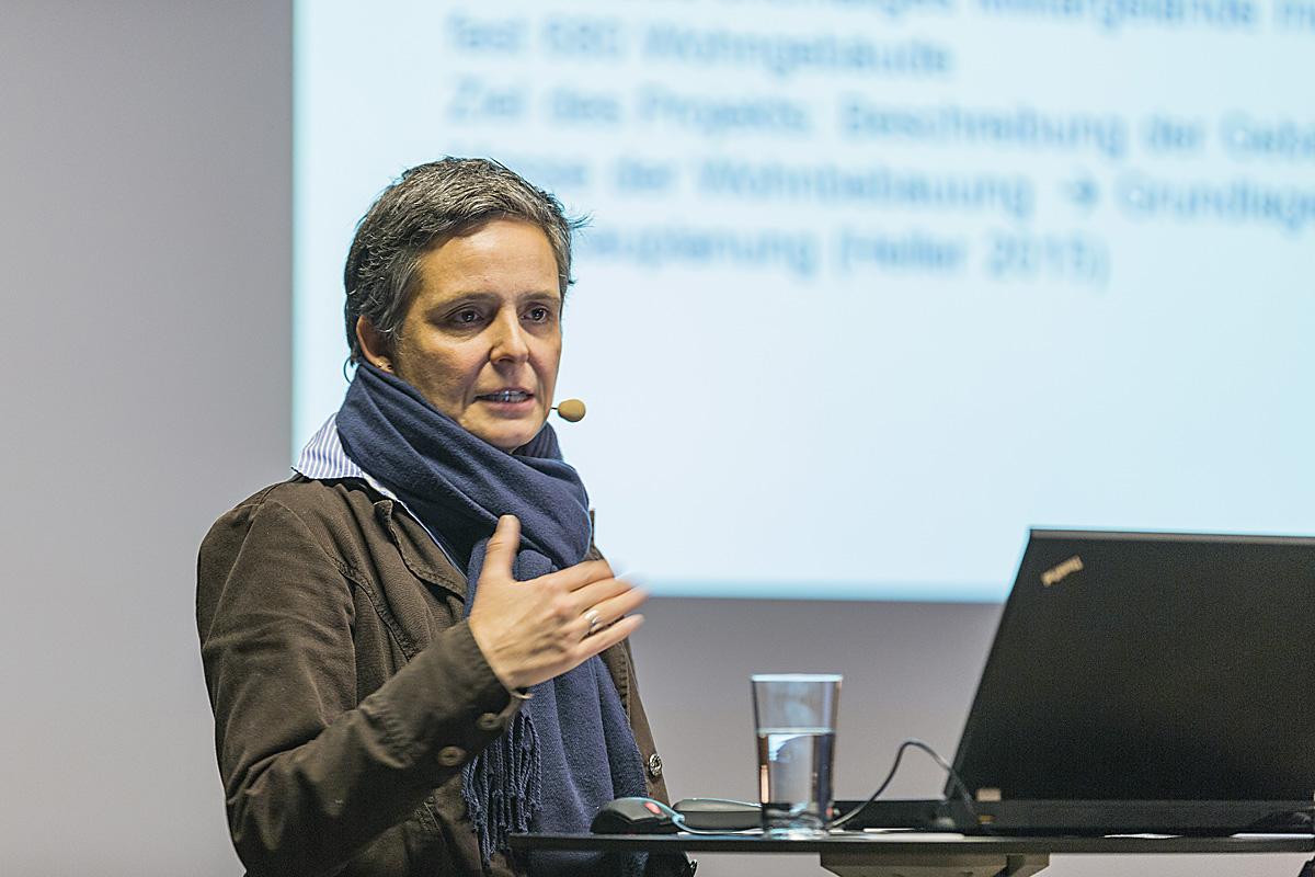 Anke Bockreis, Universität Innsbruck, bei der Energie Lounge 2016. Bildnachweis: Darko Todorovic