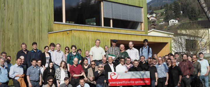 e5-Teammitglieder, Bürgermeister und Energiebeauftragte aus ganz Vorarlberg