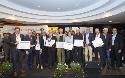 Die RepräsentantInnen der Vorarlberger e5-Gemeinden bei der European Energy Award Auszeichnung