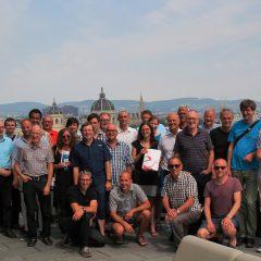 Die TeilnehmerInnen der e5-Exkursion 2017 in Wien (auf dem TU-Gebäud)