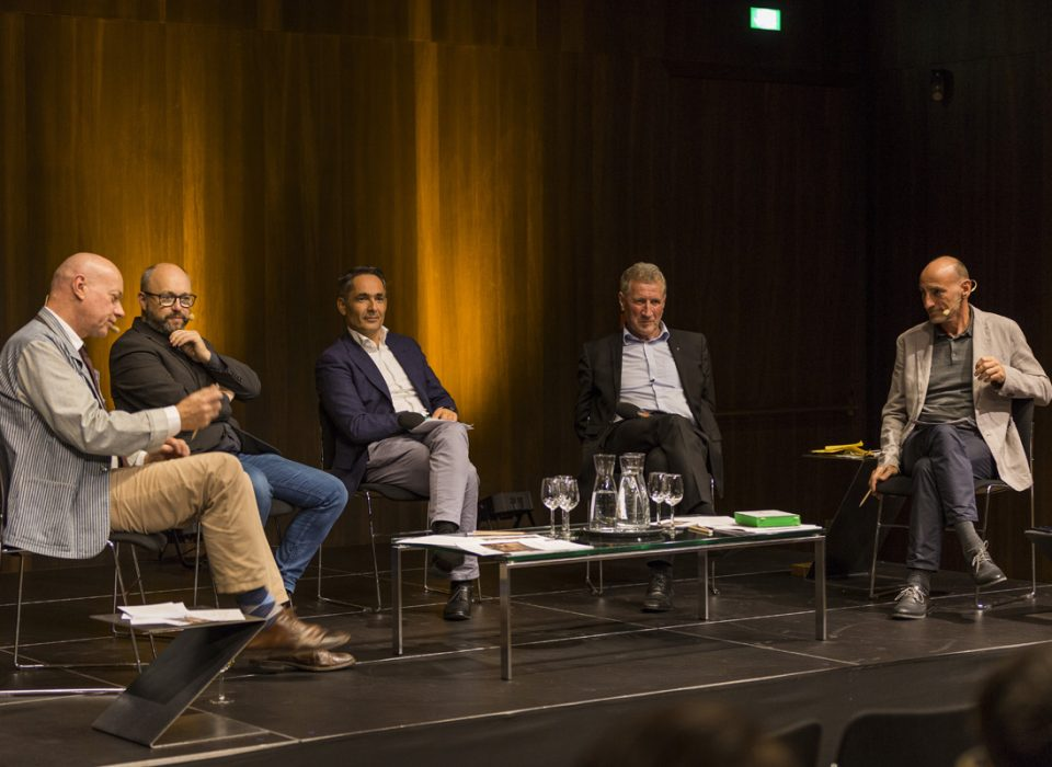Energie Lounge 2017 - Bildnachweis Darko Todorovic. Christian Vögel, Harald Gmeiner, Erich Schwärzler, Hubert Rhomberg, Hans-Georg Bächtold