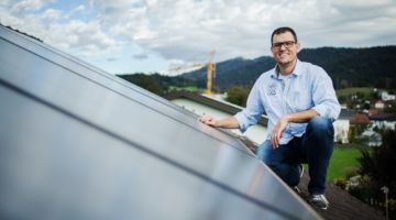 Solaranlage und Pelletsheizung im Generationenhaus in Wolfurt. Bildnachweis Markus Gmeiner