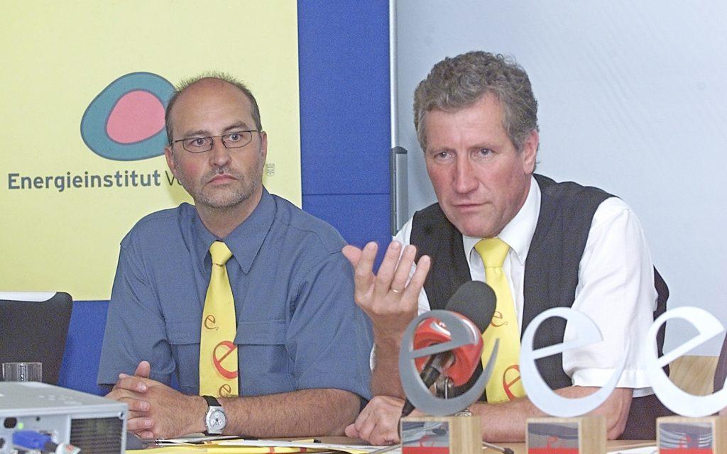 """Pressekonferenz, Energieinstitut Vorarlberg, """"5 Jahre              e5Gemeinden - e5Auszeichnungsveranstaltug"""", mit Landesrat              Ing. Erich Schwärzler"""