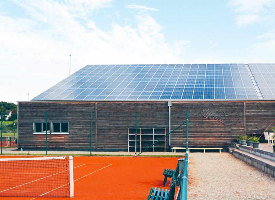Tennishalle Bad Schussenried Bildnachweis Franz Walser Holzbau