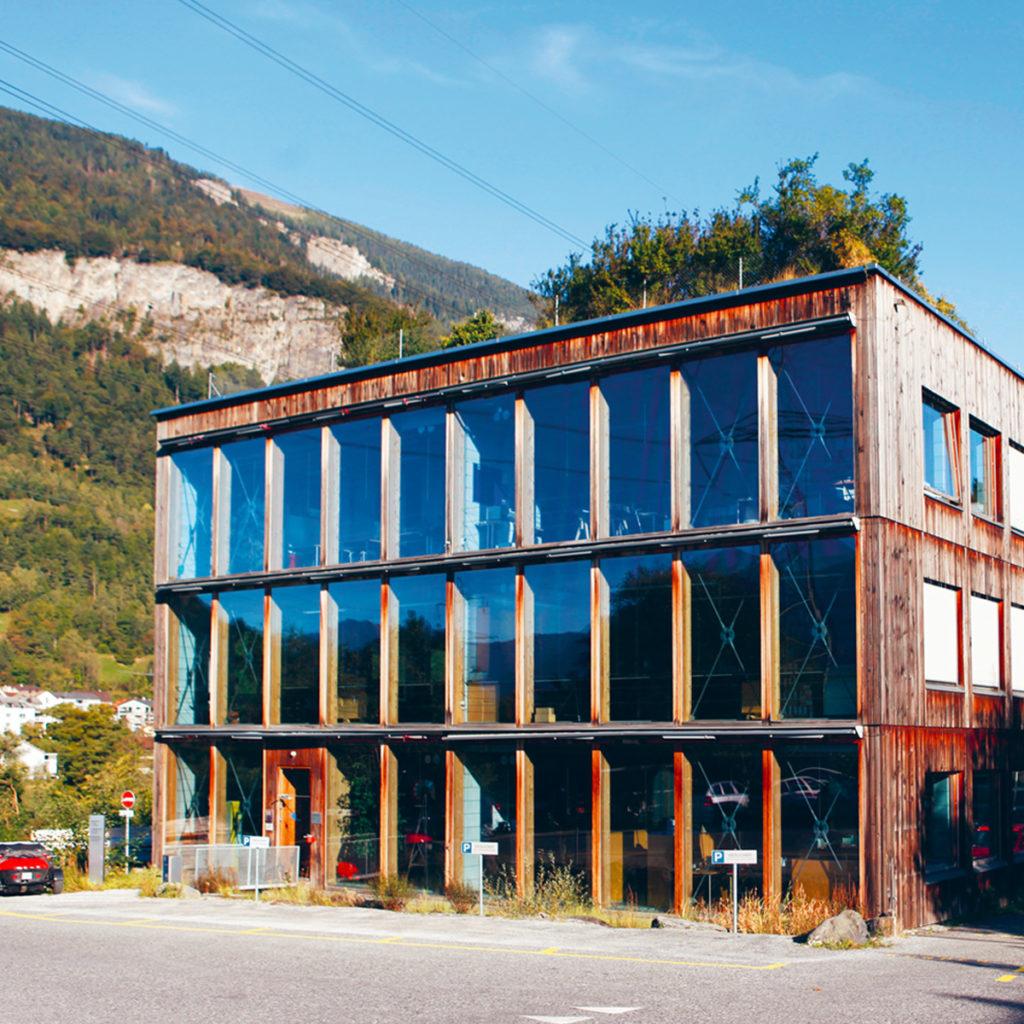 Das Gewerbehaus Gasser in Chur (CH) - Bildnachweis Josias F. Gasser