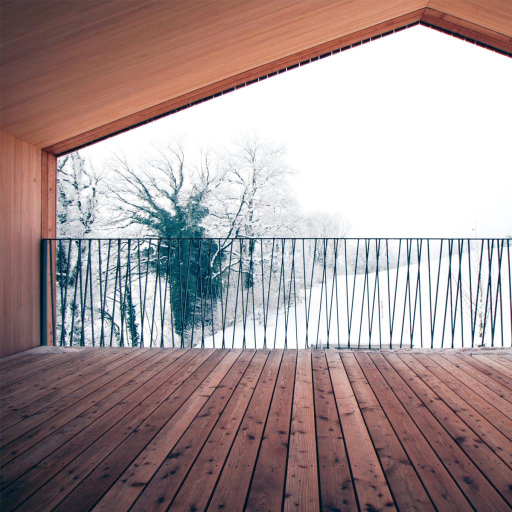 Das Low-Tech-Einfamilienhaus Gstöhl von Mathias Stöckli in Eschen (FL). Bildnachweis: Universität Liechtenstein