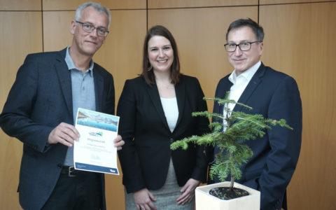 Das Energieinstitut Vorarlberg ist seit 2019 Mitglied im Klimaneutralitätsbündnis 2025. Bildnachweis: illwerke vkw