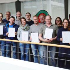 Die erfolgreichen Absolventinnen und Absolventen des Gebäude & Energie Basislehrgangs 2019.