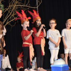 """. Krönender Projektabschluss im Kindergarten Weissenbild (Lauterach) war das eigens erarbeitete Musical """"Königreich der Elemente"""". Bild: Gabriela Paulmichl"""