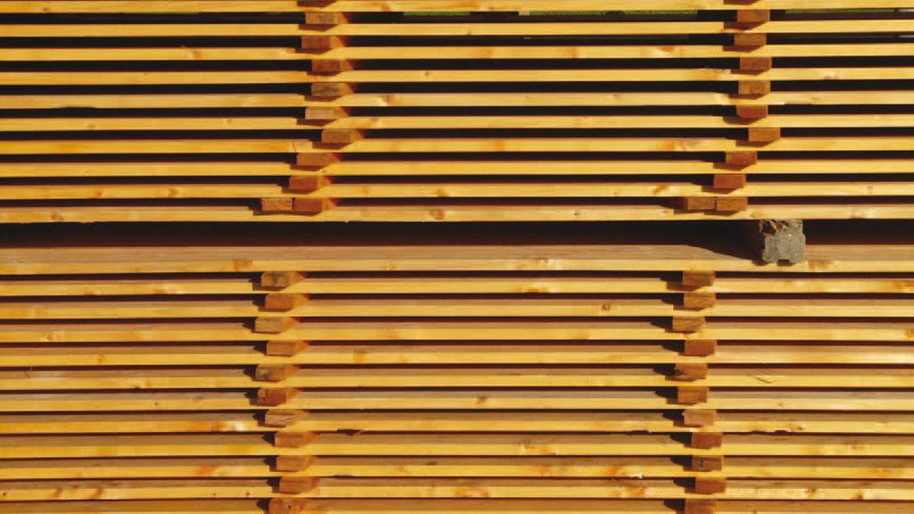 Holz enthält von Natur aus Formaldehyd. Kommt es im Innenraum zum Einsatz, soll es möglichst wenig weitere Schadstoffe aus der Verarbeitung beinhalten. Bild: Hans Braxmeier auf Pixabay