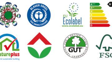 Logos von verschiedenen Umweltzeichen