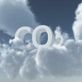 co2 in den wolken - 3d illustration