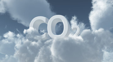 co2 in den wolken - 3d illustration